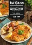 Schnitzel-Buffet JEDEN DIENSTAG AB 17:30 UHR Genießen Sie Schnitzel in allen Variationen. Soviel Sie mögen! EUR 9,99 p.P. ©Foto: Mediaheadz · Susann Wentzlaff