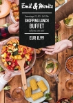 Shopping-Lunch ALL YOU CAN EAT! Gönnen Sie sich eine Shopping-Pause und genießen Sie jeden Samstag von 11:30 bis 14:00 Uhr gesundes und frisches Essen vom Buffet EUR 8,99 p.P. ©Foto: Mediaheadz · Susann Wentzlaff