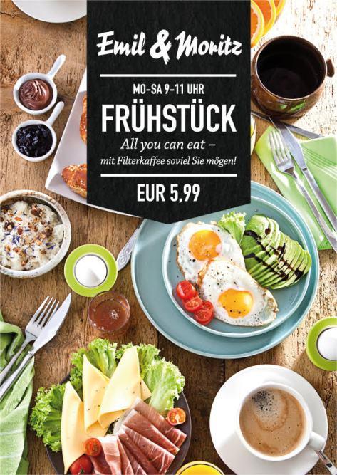"""Frühstück """"All you can eat"""" für 5,99 €! Mo-Sa von 9-11 Uhr! Genießen Sie Filterkaffee, soviel Sie mögen! ©Foto: Mediaheadz · Susann Wentzlaff"""