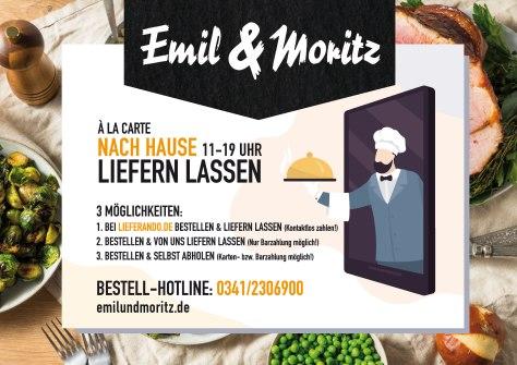 Emil & Moritz Lieferdienst - á la carte nach Hause liefern lassen